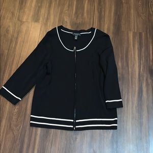 ❤️ cable & gauge woman black and white cardigan